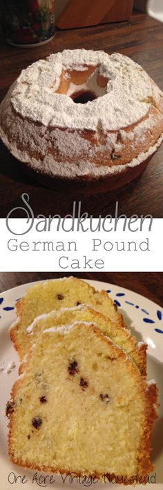 """This is such a great recipe, just like I remembered when I would go to Bamberg, Germany for the many summer vacations. My Oma would bake this pound cake and serve it during breakfasts and tea time. It is moist in the middle with a crispy edge. Add mini chocolate chips for a different variety. The large difference between this German pound cake recipe and the American variety is that this recipe is made with cornstarch. The cornstarch gives the cake such a different texture then the """"norma..."""