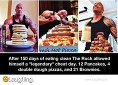 The Rocks cheat day is my every day... hahaha :'( sad lol