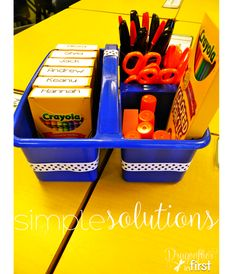 Crayon Cubbies and other organizational tips!