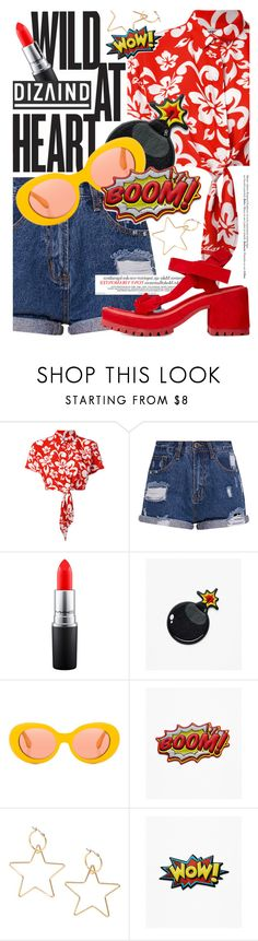 """""""Wild at Heart featuring #DIZAIND"""" by cultofsharon ❤ liked on Polyvore featuring GCDS, MAC Cosmetics, Acne Studios, Marques'Almeida and Hedi Slimane"""