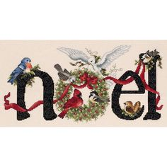 """Noel Counted Cross Stitch Kit-14-1/4""""X7"""" 14 Count"""