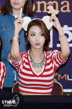 Nine Muses ~ Eunji Cabello Hair, Eun Ji, Girl Bands, Korean Girl Groups, Playboy, Muse, Short Hair Styles, Empire, Kpop