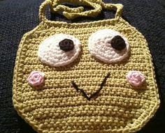 Girls froggy baby bib by KitandaKreations on Etsy