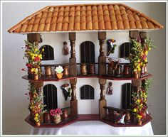 Inspiration from Colombian Artisans Clay Houses, Ceramic Houses, Miniature Houses, Dollhouse Kits, Dollhouse Miniatures, Spanish House, Marianne Design, Fairy Houses, Kitchen Decor