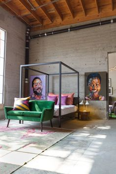 A Tour of AphroChic's Stylish Show Home at Helms Bakery   Apartment Therapy