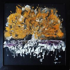 "Buy GOLDEN TREE - 15.75 x 15.75 "", 40 X 40 cm, abstract acrylic square painting, Acrylic painting by Pacoshabe on Artfinder. Discover thousands of other original paintings, prints, sculptures and photography from independent artists."