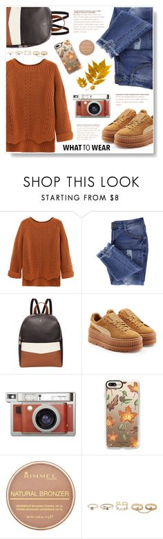 """""""Fall"""" by estolica ❤ liked on Polyvore featuring WithChic, Essie, Fiorelli, Puma, Lomography, Casetify, Rimmel and LULUS"""