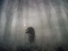the hedgehog in the fog - cutest little animation