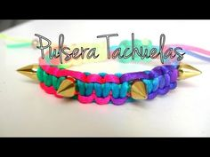 Bisuteria DIY - Pulsera de moda con tachuelas - YouTube