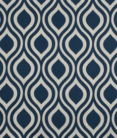 Premier Prints Emily Indigo Laken Fabric - what about pulling out the dark blue in guest room#2 headboard?