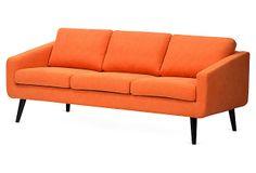 Tullah Sofa, Tangerine on OneKingsLane.com
