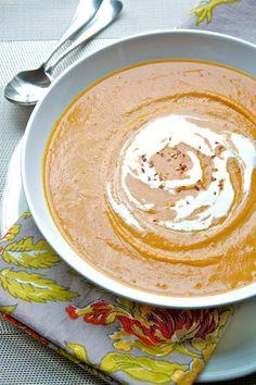 Roasted Sweet Potato & Coconut Soup:   http://www.theprofessionalpalate.com/recipes/roasted-sweet-potato-and-coconut-soup.html