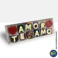 Caja de Chocolates con mensaje... encuéntralos en nuestros puntos de venta. #chocolates #mensajes #teamo #regalos Número Único: 444 73 42 Si lo quieres dale me gusta!!