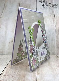 Stampin' Up! Grace's Garden Gateway Sneak Peek Fancy Fold Cards, Folded Cards, Card Making Tutorials, Making Ideas, Paper Cards, Diy Cards, Stamping Up Cards, Rubber Stamping, Some Cards