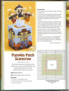 Pumpkin Patch Scarecrow Tissue Box Cover 1/2                                                                                                                                                                                 More