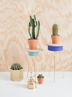 DIY tripod plant stands - Heju for Mint Magazine