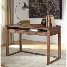 Ashley Baybrin Home Office Small Desk in Rustic Brown - H587-10