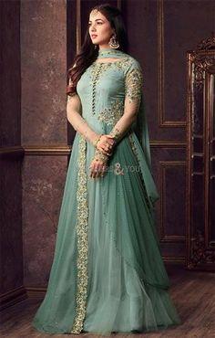 Anarkali Suit: Buy Latest Designer Anarkali Suits for Women Online Pakistani Wedding Dresses, Indian Dresses, Indian Outfits, Girls Party Wear, Party Wear Dresses, Anarkali Dress, Anarkali Suits, Churidar Suits, Abaya Fashion