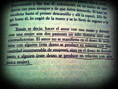 MI LIBRO FAVORITO---De La insoportable levedad del ser, Milan Kundera <3