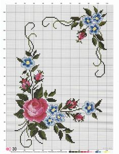 Nalan n dnyas 55 etamin iek ablonu ndirmek cretsiz 74 ways to reuse and recycle empty plastic bottles for crafting page 7 of 8 bottles crafting empty plastic recycle reuse Cross Stitch Rose, Cross Stitch Borders, Cross Stitch Flowers, Cross Stitch Designs, Cross Stitching, Cross Stitch Embroidery, Cross Stitch Patterns, Hand Embroidery Designs, Embroidery Patterns