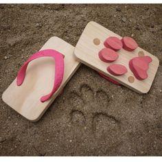 Ashiato footprint sandals