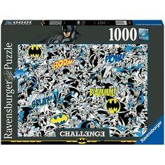 Ravensburger Puzzle 1000 Pz Batman Challenge Dc Comics, Batman Comics, Ravensburger Puzzle, Batman Puzzle, Vintage Designs, Vintage Art, Jigsaw Puzzles, Challenges, Wall Art