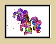My Little Pony, Nursery art, Nursery, horse, pony, My Little Pony poster,Watercolor print, for children, Kids Room Decor, Poster,print(681b)