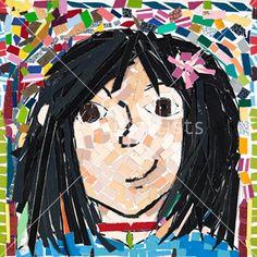 Mosaic Portrait - Grade 4