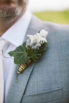 Rustic boutonniere: http://www.stylemepretty.com/new-york-weddings/finger-lakes/2013/10/23/finger-lakes-barn-wedding-from-alexandra-meseke-photography/ | Photography: Alexandra Meseke - http://alexandrameseke.com/