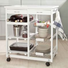 • Color:white ;if you need the natural color,please contact us • Practical, high quality, space saving, solid wood kitchen trolley with plentiful storage for kitchen utensils and equipment.  • Provides extra storage but takes up minimum floor space. • Features 2 shelves, a wine rack, 3 wire baske... more details available at https://furniture.bestselleroutlets.com/game-recreation-room-furniture/home-bar-furniture/bar-serving-carts/product-review-for-haotian-wooden-kit
