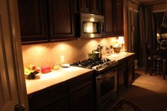 cheap and easy under cabinet lighting- We need to look into fixing our under cab lighting