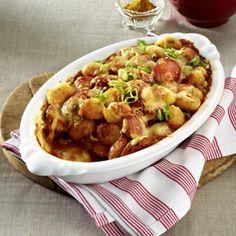 Currywurst-Gnocchi-Auflauf Rezept | LECKER
