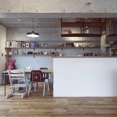 do_thee_boogieさんの、部屋全体,ダイニングキッチン,リノベーション,コンクリート打ちっ放し,のお部屋写真