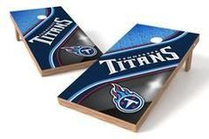 Tennessee Titans Single Cornhole Board - Swirl