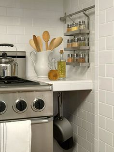 Spice Solution - Like this!  Wish I had a wall I could do this on, maybe against my existing cabinet?  HMMM.