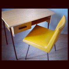 Bureau formica style scandinave  - Becbunzen mobilier vintage & industriel