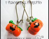 """Orecchini """"Halloween zucche strega"""" fimo cernit kawaii : Orecchini di itesoridelfurettoit"""