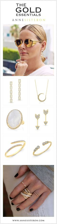 Shop the entire Anne Sisteron Jewelery Collection to your heart's content. Diamond Jewelry, Gold Jewelry, Fine Jewelry, Jewelry Stores, Jewelry Collection, Jewelry Design, Jewels, Elegant, My Style