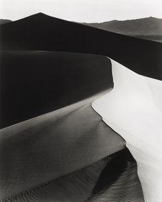 Sand Dunes, Sunrise, Death Valley National Monument, California (1948) | Photographer: Ansel Adams