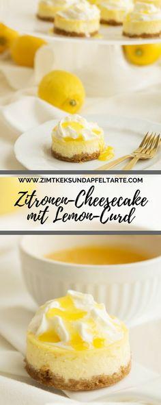 Super fruchtig, sehr cremig und einfach gebacken: mein Rezept für Zitronen-Cheesecake mit Lemon-Curd