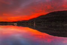 Now THAT's what we call a sunrise! Loch Ken in Dumfries & Galloway, by Verity E. What A Wonderful World, Beautiful Sunset, Night Skies, Pretty Pictures, The Great Outdoors, Wonders Of The World, Clouds, Sky, Explore
