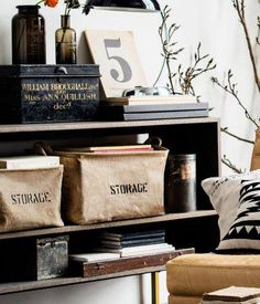 """""""Storage Baskets"""" to unclutter your life in style  www.OrganizerLogic.com"""