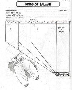 Sewing Pattern: Narrow salwar-style pants pattern, by Arabella on . Kurta Patterns, Blouse Patterns, Clothing Patterns, Sewing Patterns, Pattern Cutting, Pattern Making, Tailoring Classes, Sewing Collars, Sewing Blouses
