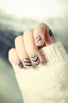 hipster summer nail art // how fun!