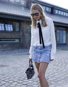 Skinny Scarf Saia Jeans
