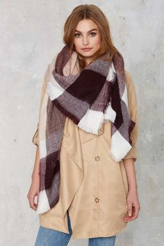 All or Nothing Plaid Blanket Scarf - Accessories | Scarves + Gloves