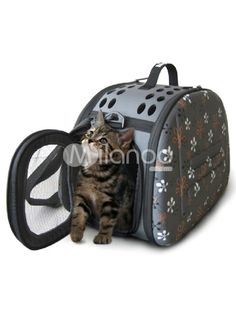 Practical Composite EVA Material Foldable Pet Carrier Bag $59.99 Size: 46*30*32cm The item is appropriate for cat or dog under 12kg. Category: / For The Home / Dog Supplies / Dog Carriers