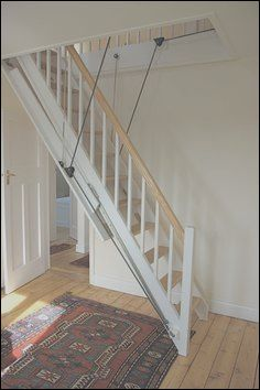12 Gorgeous Garage Loft Stairs Ideas Photos In 2020 Attic Remodel Attic Stairs Attic Renovation