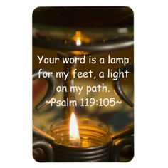 Psalm 119:105 Premium Magnet by Florals by Fred #zazzle #gift #photogift