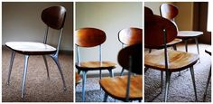 Beautiful Impala chairs - love the ergonomic curve on the backrest.